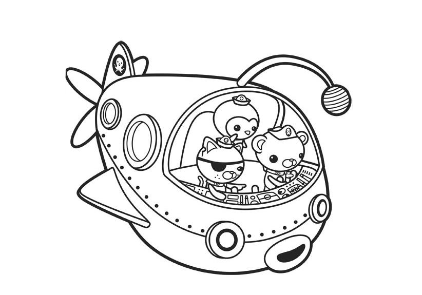 Dibujos para colorear Octonautas | Imágenes de los Octonautas